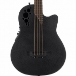 Ovation B778TX - 4 String Elite TE Mid-Depth Cutaway Electro Bass In Black Texture