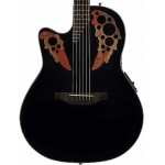 Ovation CE44L-5 Celebrity Elite Mid-Depth Cutaway Electro In Black, Left-hand