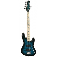 Overwater Contemporary 5 String Bass, Translucent Blue, Secondhand