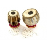 Percussion Plus PP1101 Indian Tabla Pair (Thong Tension) For Indian Music