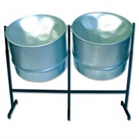 Percussion Plus PP444 Double Guitar Steel Pans For Caribbean Music