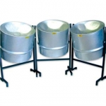 Percussion Plus PP445 Tripple Cello Steel Pans For Caribbean Music
