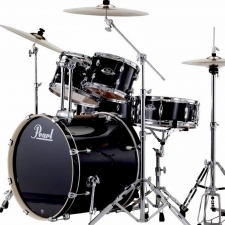 "Pearl Export EXX 22"" Drum Kit in Jet Black with Hardware & Sabian Cymbals"
