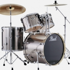 "Pearl Export EXX 22"" Kit in Smokey Chrome With Hardware & Sabian Cymbals"