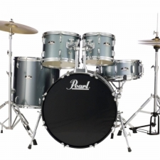 "Pearl Roadshow Jazz / Junior 18"" Kit in Charcoal With Hardware & Cymbals"