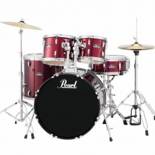"""Pearl Roadshow American Fusion 22"""" Kit In Wine With Hardware & Cymbals"""