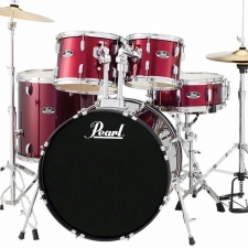 "Pearl Roadshow American Fusion 22"" Kit In Wine With Hardware & Cymbals"
