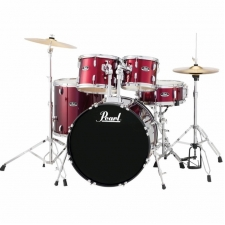 "Pearl Roadshow Jazz / Junior 18"" Kit in Wine Red With Hardware & Cymbals"
