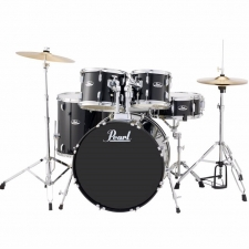 "Pearl Roadshow  Jazz / Junior 18"" Kit in Black With Hardware & Cymbals"