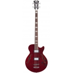 D'Angelico Premier Bass Single Cut Bass Guitar in Trans Wine
