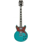 D'Angelico Premier Brighton Solid Body Electric Guitar in Ocean Turquoise