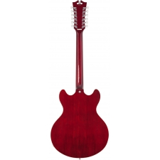 D'AngelicoPremier DC 12-String Double Cut Hollow Body Guitar in Trans Wine