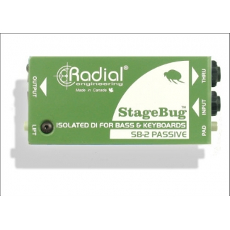 Radial StageBug SB2 Passive Direct Box for Elec Bass, Acoustic & Keys