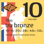 3 Sets of Rotosound 80/20 Bronze TB10 Acoustic Guitar Strings 10-50