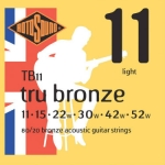 3 Sets of Rotosound 80/20 Bronze TB11 Acoustic Guitar Strings 11-52
