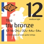 3 Sets of Rotosound 80/20 Bronze TB12 Acoustic Guitar Strings 12-54