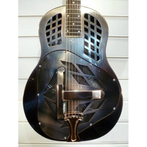 ResoVille Burbank MT12 Tri-Cone Resonator In Red Copper Finish With Case