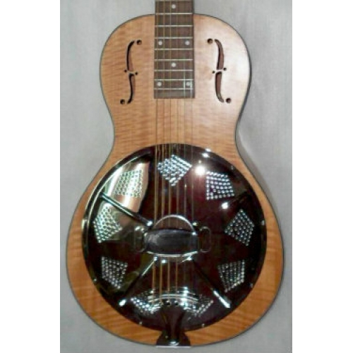 ResoVille Edgewood WS12X Single Cone Wooden Parlor Resonator In Maple & Case