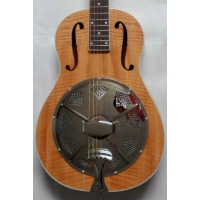 ResoVille Lincolnwood WS12 Single Cone Wooden Resonator In Maple & Case