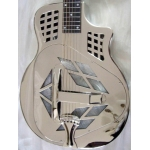 ResoVille Riverdale MT14C Tri-Cone Resonator Cutaway In Nickel Finish & Case
