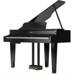 Roland GP607 Digital Grand in Polished Ebony with Adjustable Stool (GP607PE)
