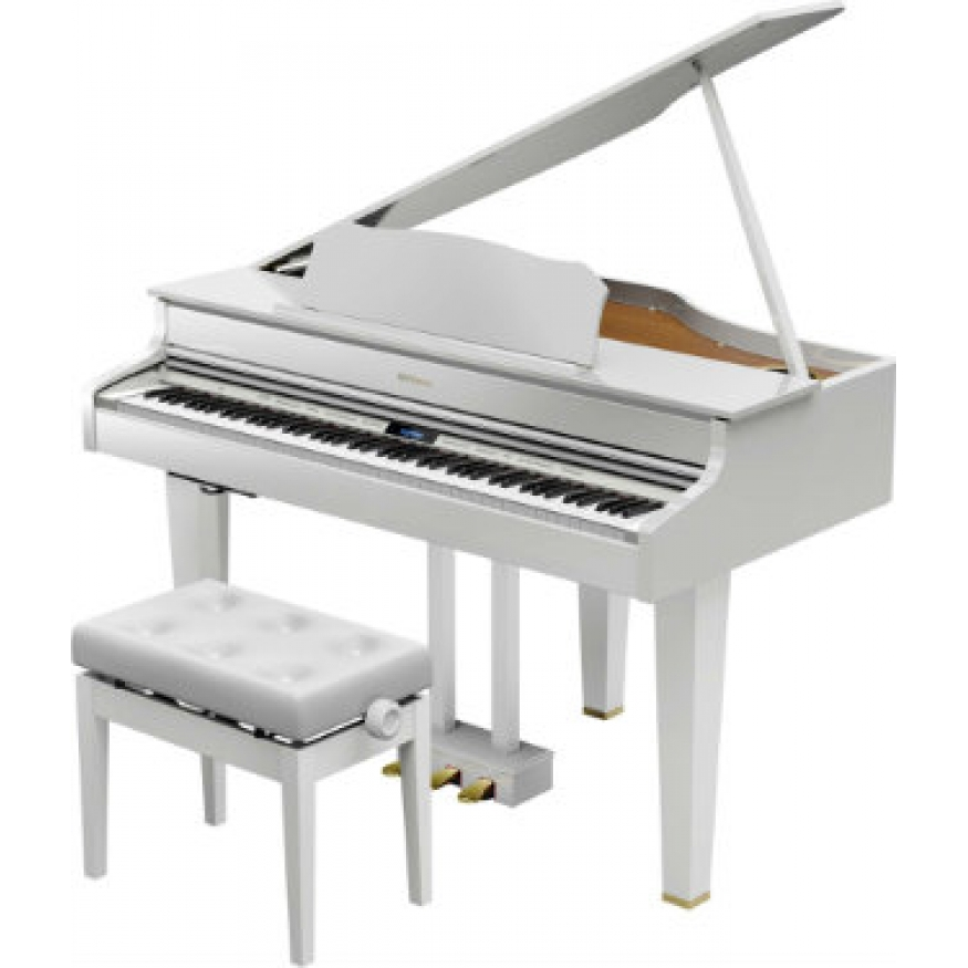 Roland Gp607 Digital Grand In Polished White With