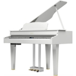 Roland GP607 Digital Grand Polished White with Adjustable Stool