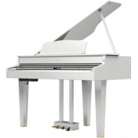 Roland GP607 Digital Grand in Polished White with Adjustable Stool (GP607PW)