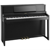 Roland LX7 Digital Upright Piano in Contemporary Black (LX7CB)