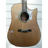 Maestro Rosetta SR-CSB Custom Dreadnought Electro Acoustic With Case, Secondhand