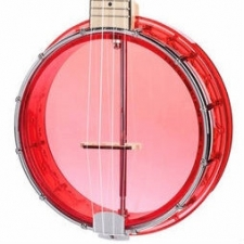 Gold Tone Little Gem Ukulele Banjo in Ruby Red with Gig Bag
