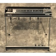 GFI S10PU Ultra Single Neck Pedal Steel Guitar in Black Mica with Pad & Hardcase