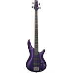 Ibanez SR300 4-String Bass Guitar, Quilted Maple, Purple, Secondhand