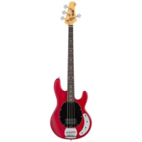 Sterling by MusicMan Sub Ray 4 Bass Guitar, Trans Red Satin