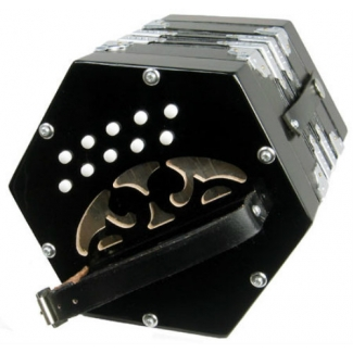 Scarlatti C/G Anglo Concertina SC20K With 20 Keys In Black (GR47011K)