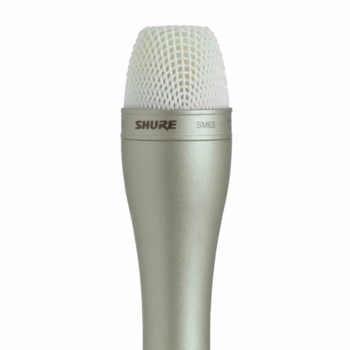 Shure SM63 Broadcast Dynamic Microphone Package in Champagne