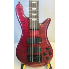 Spector Bass Rebop 5DLX Quilted Maple 5-String Bass in Black Cherry Gloss