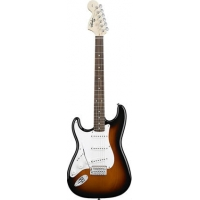 Squier Affinity Stratocaster Electric Guitar in Sunburst, Lefthanded