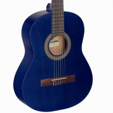 Stagg C430M 3/4 Size Nylon Strung Classical Guitar In Matt Blue With Bag