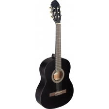 Stagg C430M 3/4 Size Nylon Classical Strung Guitar In Matt Black With Bag