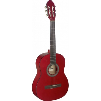 Stagg C430 3/4 Size Classical Guitar, Red