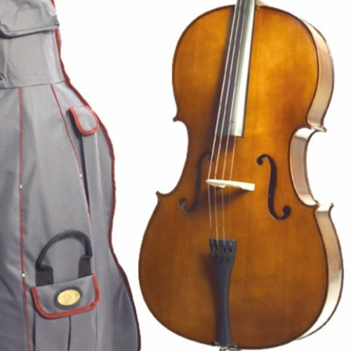 1/8 Size Stentor Student 2 Cello Outfit With Bow, Cover & Rosin #1108G