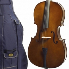 3/4 Size Stentor Student 1 Cello Outfit With Bow, Cover & Rosin #1102C2