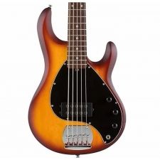 Sterling by Music Man SubRay 5 5-String Bass Guitar in Honey Burst Satin