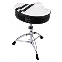 Mapex T756W Drum Throne White with Black Stripes