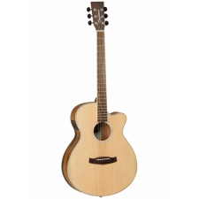 Tanglewood DBT-SFCE-PW (Pacific Walnut) Super Folk Electro Acoustic in Natural