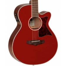 Tanglewood TW4-ER Super Folk Cutaway Electro Acoustic Guitar in Red Gloss