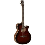 Tanglewood TW4 Winterleaf Super Folk Cutaway, Whiskey Barrel Gloss