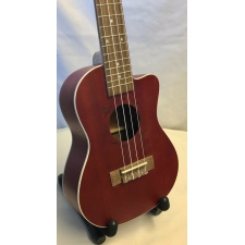 Flight Red Mahogany Concert Cutaway Ukulele With Bag