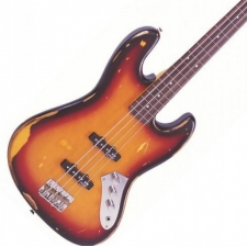 Vintage ICON V74MRJP Fretless Bass in Sunburst
